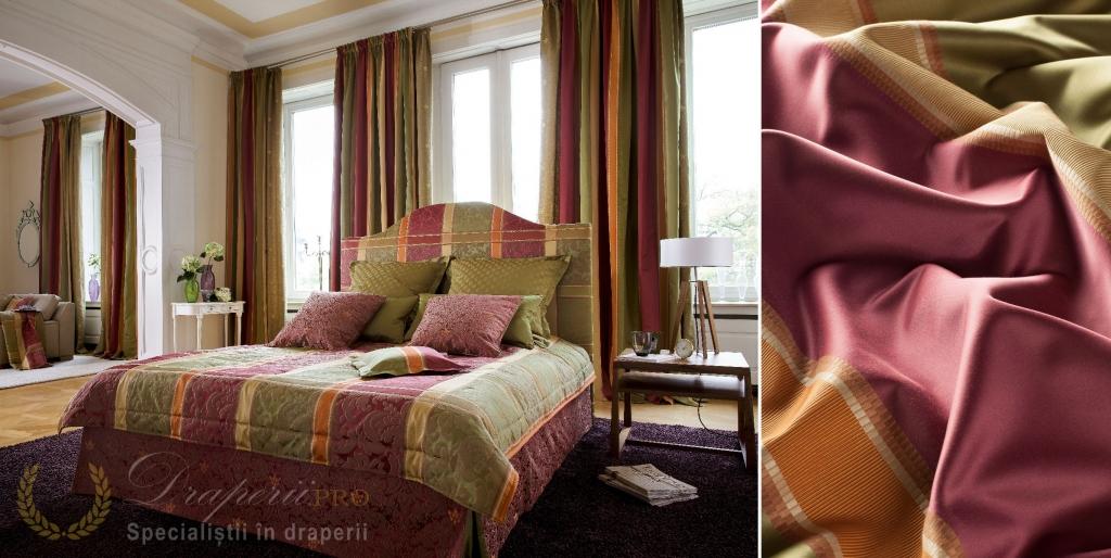 colaj_material_draperii_perne_rosu_verde_decor_interior