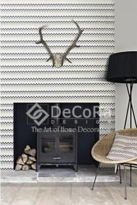 PPTT003_Tapet_decorativ_textil_zig_zag_negru_gri