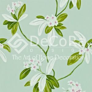 SSDT003_modele_tapet_textil_motive_florale_fond_turcoise