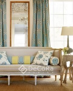 1-draperii-lux-draperie-model-geometric-albastru-auriu-elegant