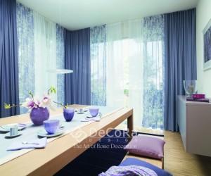 LxxT022-draperie-albastru-uni-perdea-alb-model-floral-modern-tineresc