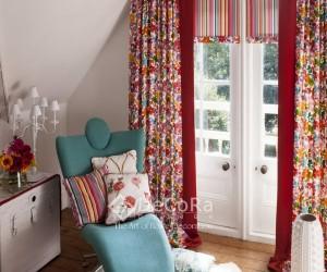 draperie-model-floral-rosu-albastru-verde-portocaliu-tineresc-clasic