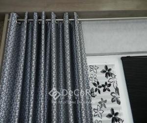 draperie-model-floral-gri-albastru